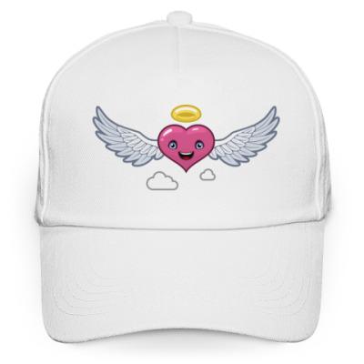 Кепка бейсболка сердце-ангел