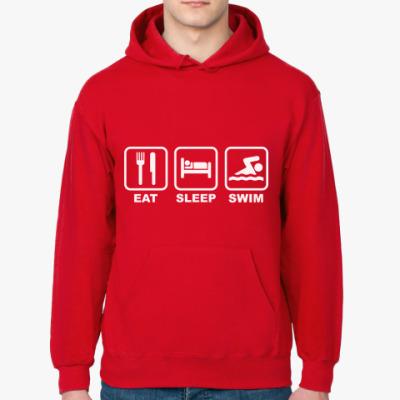 Толстовка худи Eat Sleep Swim