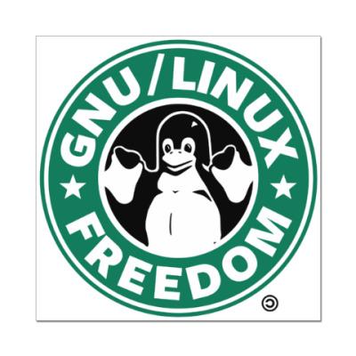Наклейка (стикер) GNU/Linux FREEDOM