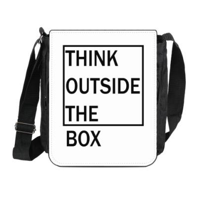 Сумка на плечо (мини-планшет) Мысли шире