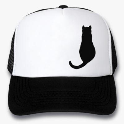 Кепка-тракер Силуэт черного кота