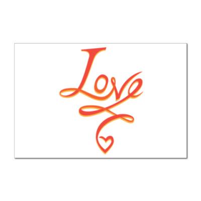 Наклейка (стикер) LOVE