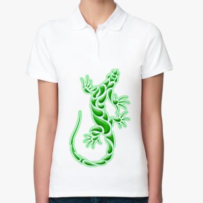 Женская рубашка поло Ящерица
