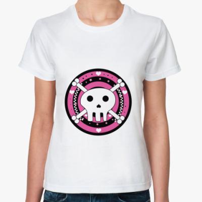 Классическая футболка эмо череп