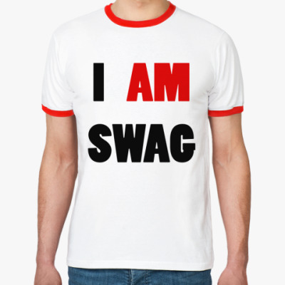 Футболка Ringer-T I am swag