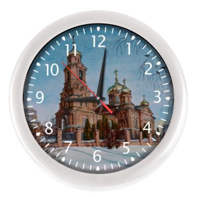 Настенные часы церковь акварель Саранск