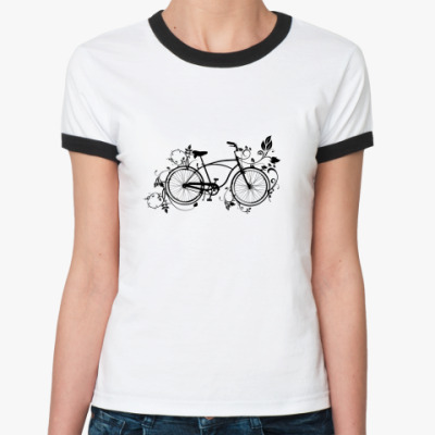 Женская футболка Ringer-T велосипед