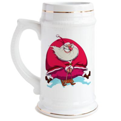 Пивная кружка Злой Санта
