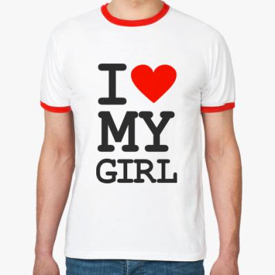 Футболка Ringer-T I love my girl