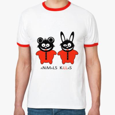Футболка Ringer-T Animals Killas