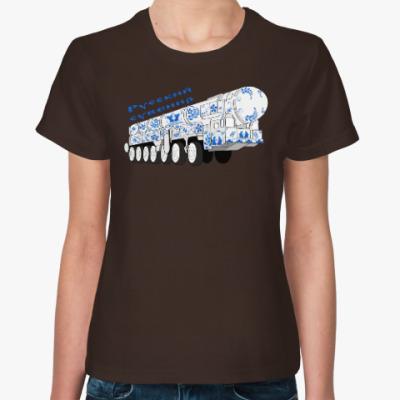 Женская футболка Русский сувенир