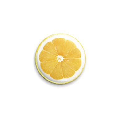 Значок 25мм  Лимончик