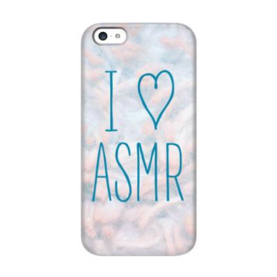 Чехол для iPhone 5c Я люблю ASMR (шерсть)