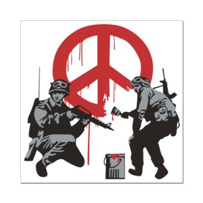 Наклейка (стикер) Peace No War