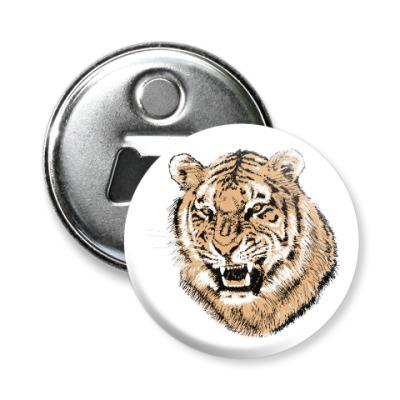 Магнит-открывашка Тигр