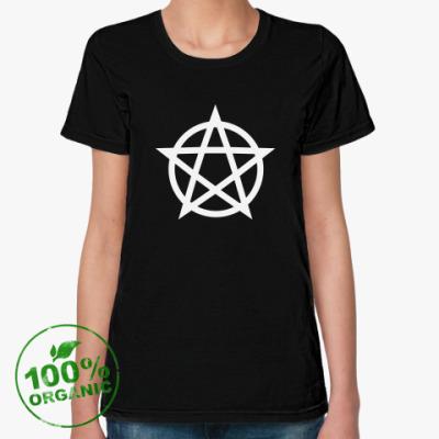 Женская футболка из органик-хлопка Пентаграмма / Pentagram