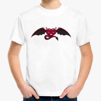 Детская футболка сердце-дьявол