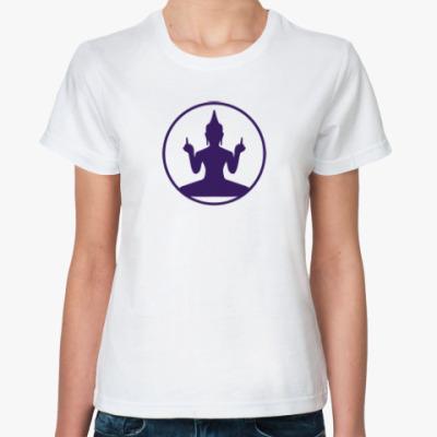 Классическая футболка  Buddha- fuck you