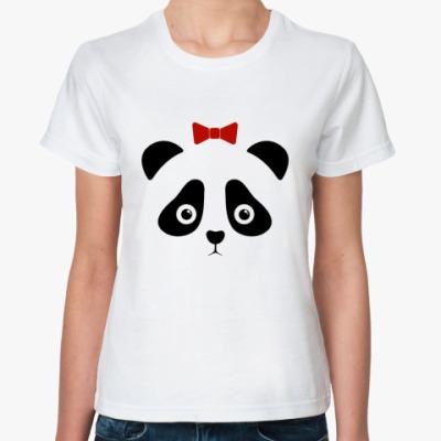 Классическая футболка Panda Girl / Панда девочка