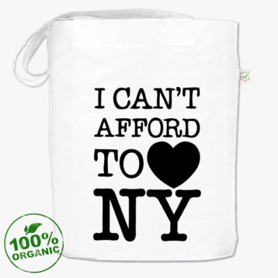 Сумка I can't afford to love NY