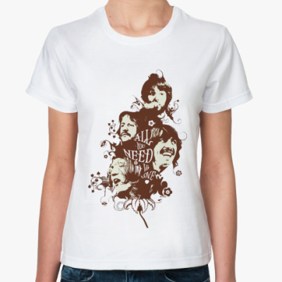 Классическая футболка All You Need Is Love