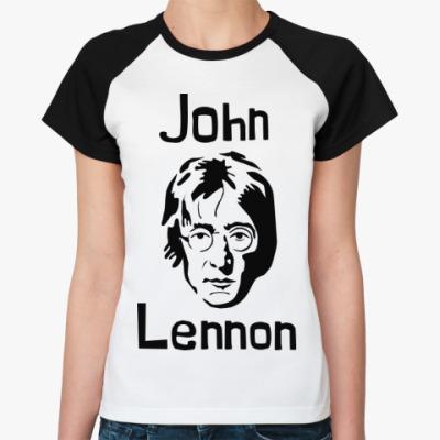 Женская футболка реглан Джон Леннон