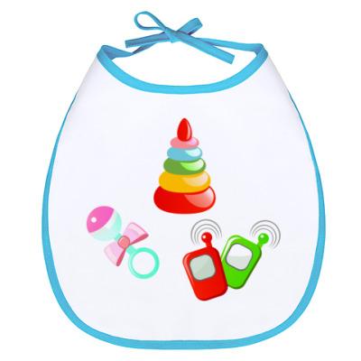 Слюнявчик 'Мои первые игрушки'