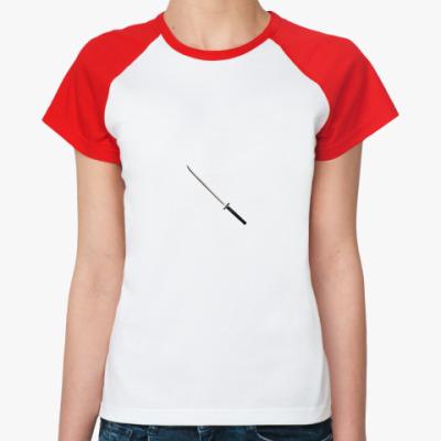 Женская футболка реглан катаны