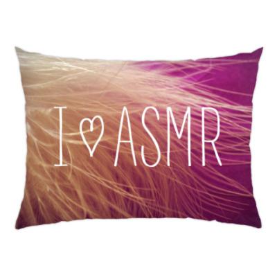Подушка Я люблю АСМР (перо)