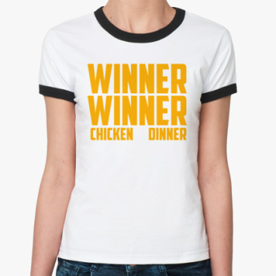 Женская футболка Ringer-T PlayerUnknown's Battlegrounds / PUBG (ПУБГ) [2]