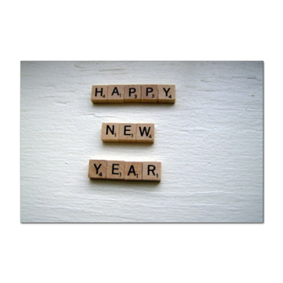 Наклейка (стикер)  New Year Scrabble
