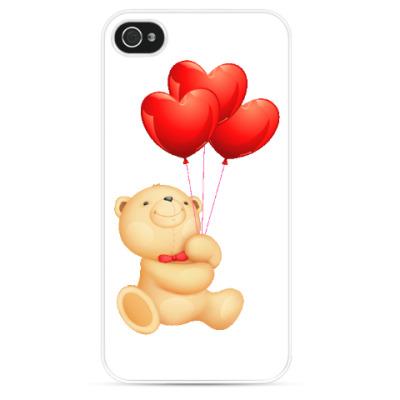 Чехол для iPhone Мишка Тедди