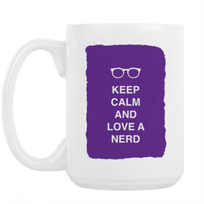 Кружка Keep calm and love a nerd
