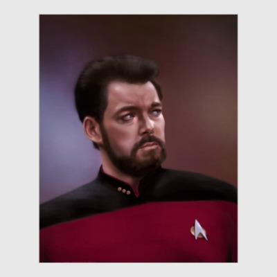 Постер Star Trek: commander Riker
