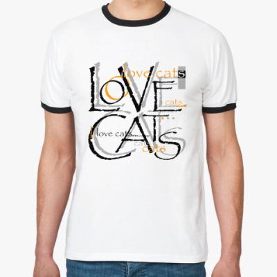 Футболка Ringer-T Люблю кошек