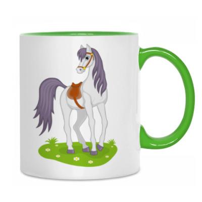 beautiful cartoon horse