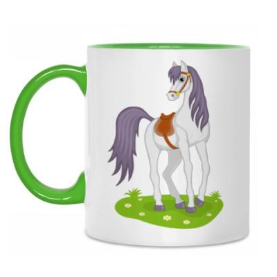 Кружка beautiful cartoon horse