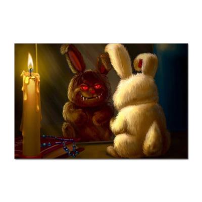 Наклейка (стикер)  Scary Rabbit