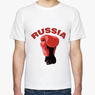 Футболка  Россия бокс