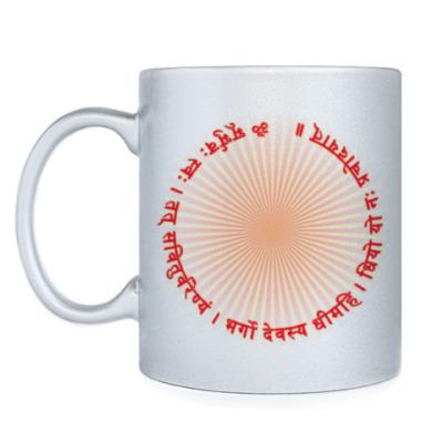 Кружка Мантра Гаятри вокруг солнца