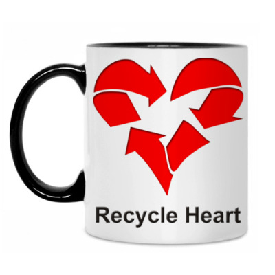Кружка Recycle Heart