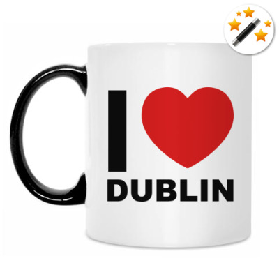 Кружка-хамелеон I love Dublin