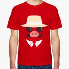 Классическая футболка Порко Россо (Алый Свин)