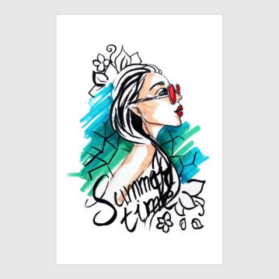 Постер Девушка лето