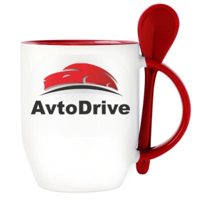 Кружка с ложкой AvtoDrive