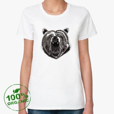 Женская футболка из органик-хлопка Медведь