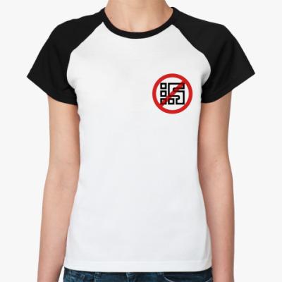 Женская футболка реглан STOP tv ZAO