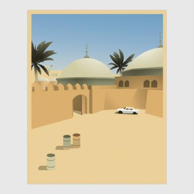 Постер de_dust2 точка b