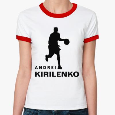 Женская футболка Ringer-T Андрей Кириленко