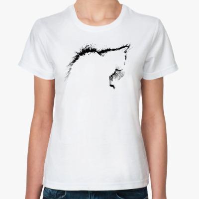 Классическая футболка Силуэт кошки